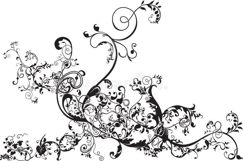 kwiecisty zawijas ilustracji