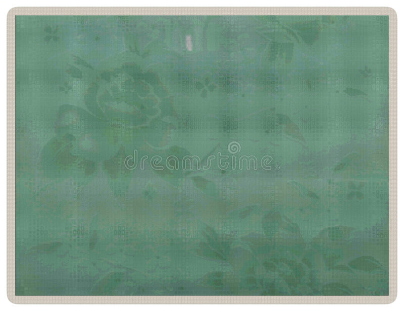 Kwiecisty zielony tło na trykotowym stylu zdjęcie stock