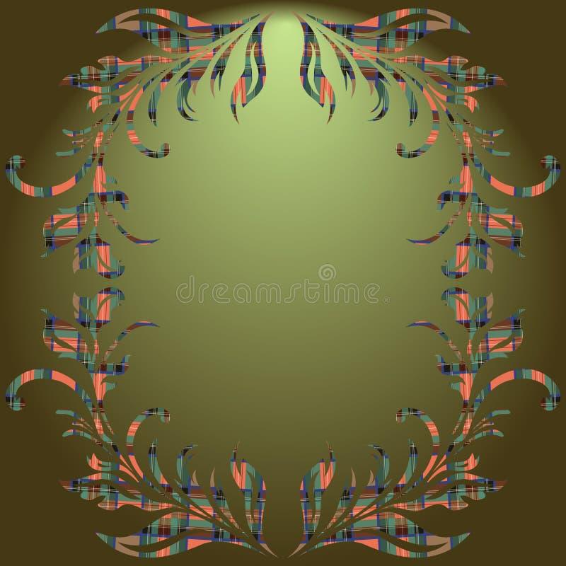 Kwiecistych elementów zielony gradientowy tło royalty ilustracja