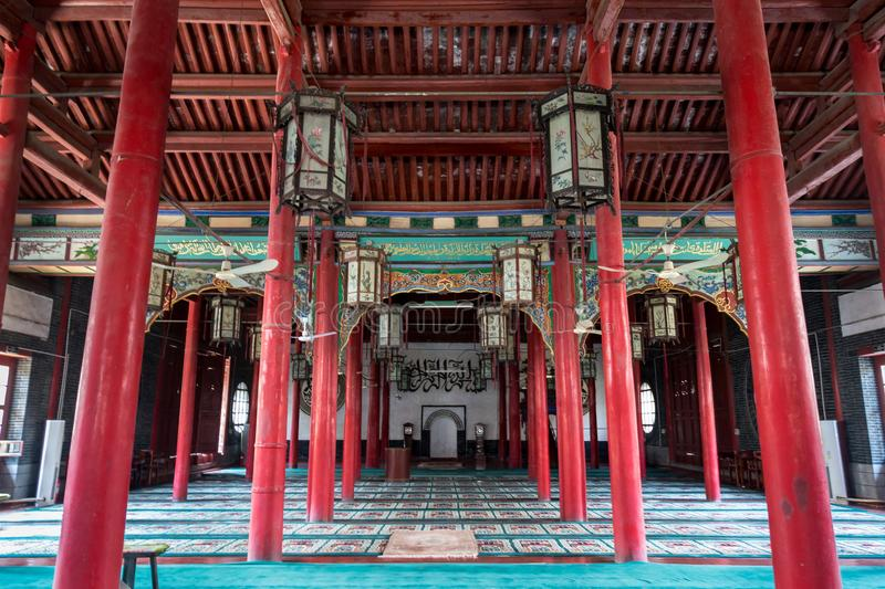 Kwietnia 2015 meczet w Jinan Si - Jinan Chiny, Qingzhen, - zdjęcie royalty free