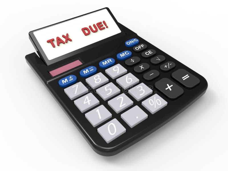 Kwietnia podatku opłaty ostateczny termin ilustracja wektor