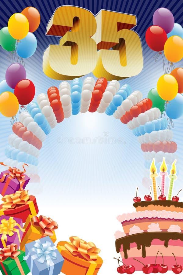 Kwinta urodziny plakat ilustracji