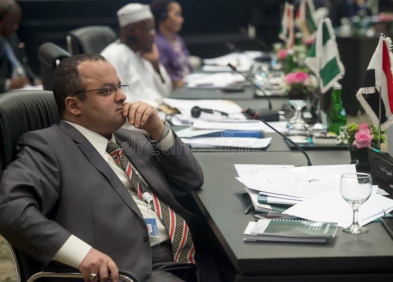 Kwinty OIC Nadzwyczajny szczyt na Palestyna Al Quds Al Sharif-Ja fotografia royalty free