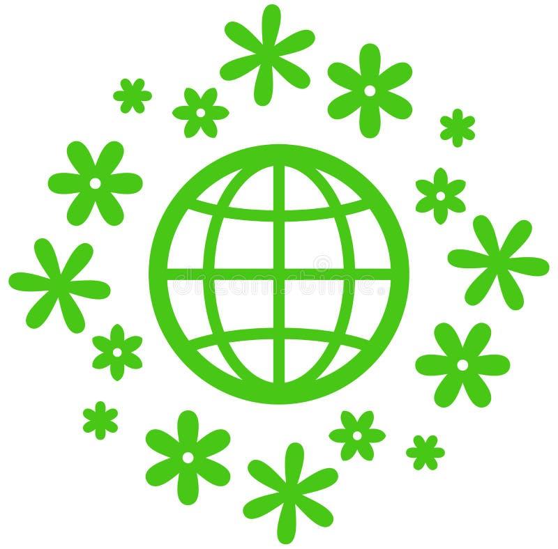 Kwitnąca Ziemska wektorowa ikona royalty ilustracja