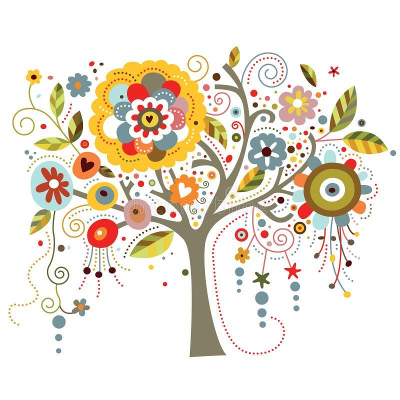 kwitnący drzewo royalty ilustracja