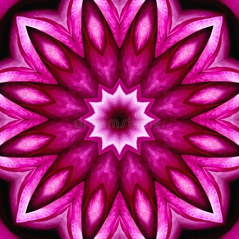 Kwitnący Różowy Bezszwowy Abstrakcjonistyczny tło Jak z teksturą ilustracji
