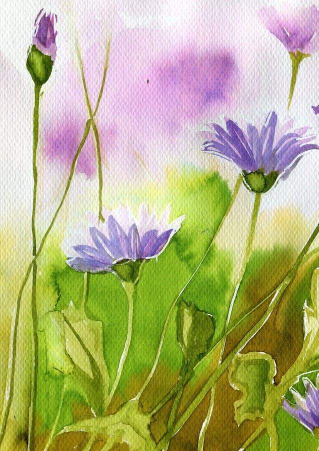 kwitnie łąkową wiosna royalty ilustracja