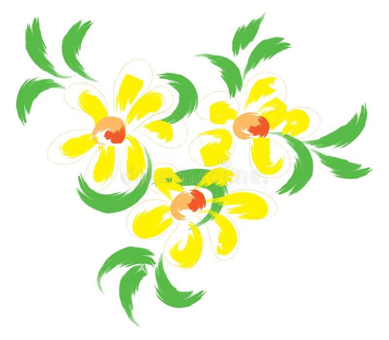 kwitnie życie wciąż yellow royalty ilustracja