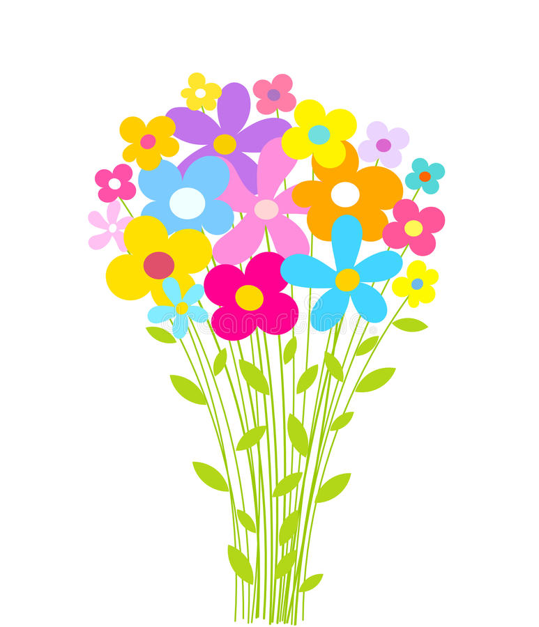 Kwitnie bukiet ilustracja wektor