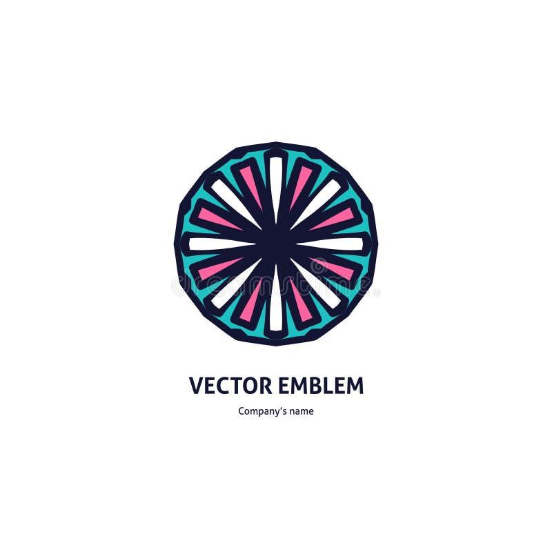 Kwitnie ciemnego logotyp dla piękna, zdroju salon, butik, kwiatu sklep, biznes ilustracja wektor