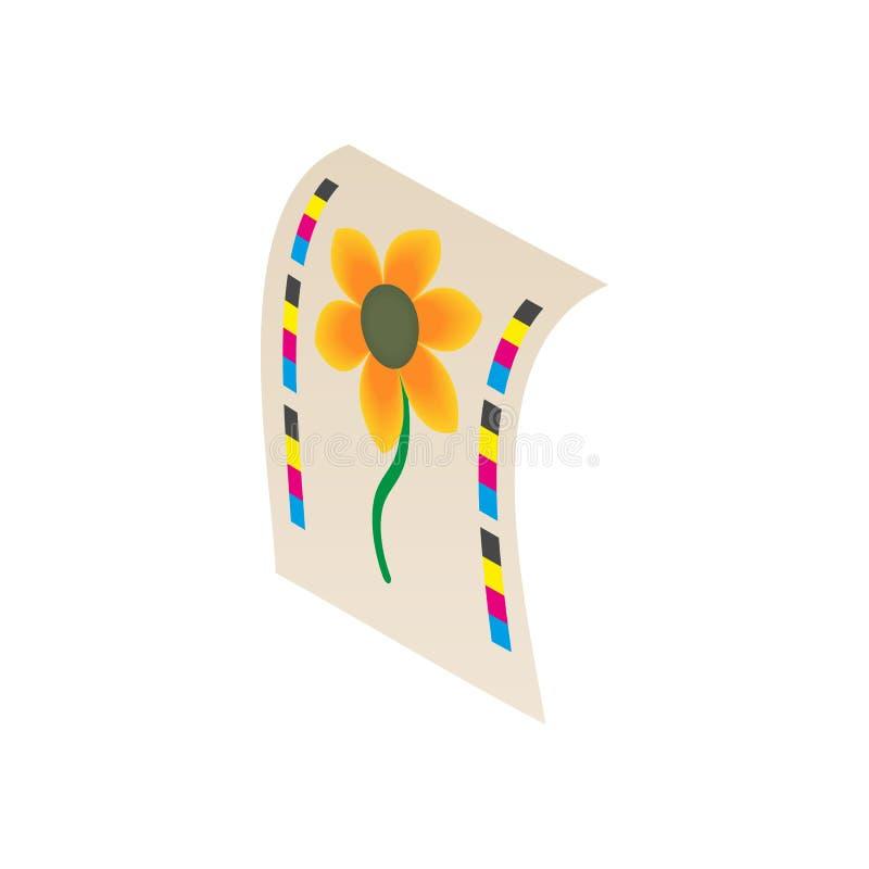 Kwitnie drukowanego na drukarki ikonie, kreskówka styl ilustracji