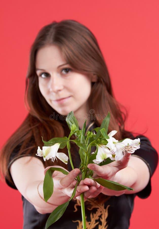 kwitnie kobiet potomstwa zdjęcie stock