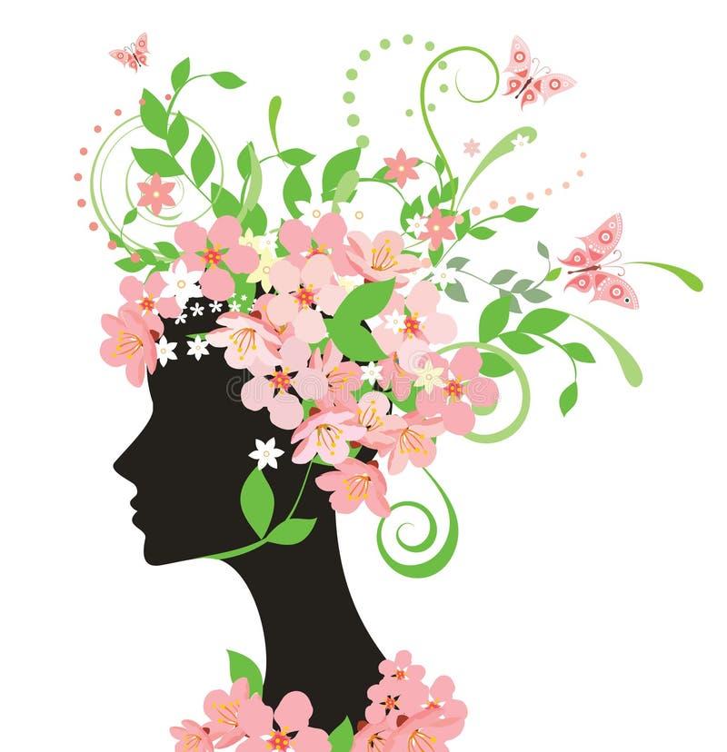 kwitnie kobiety royalty ilustracja