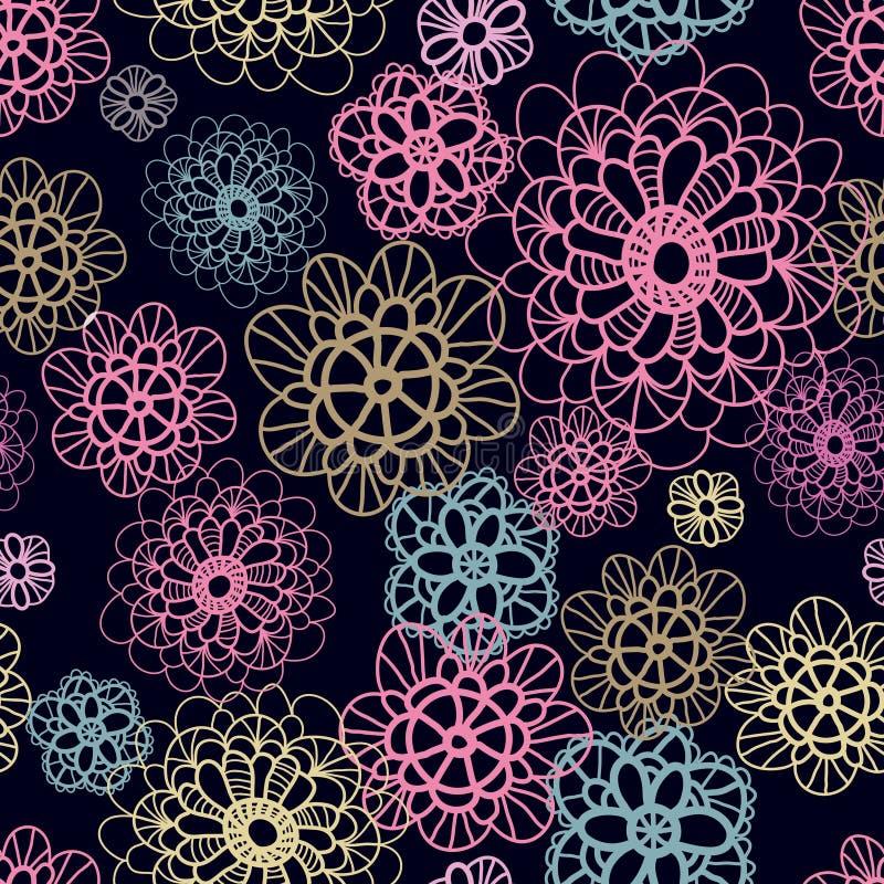 kwitnie koronkowy deseniowy bezszwowego ilustracja wektor