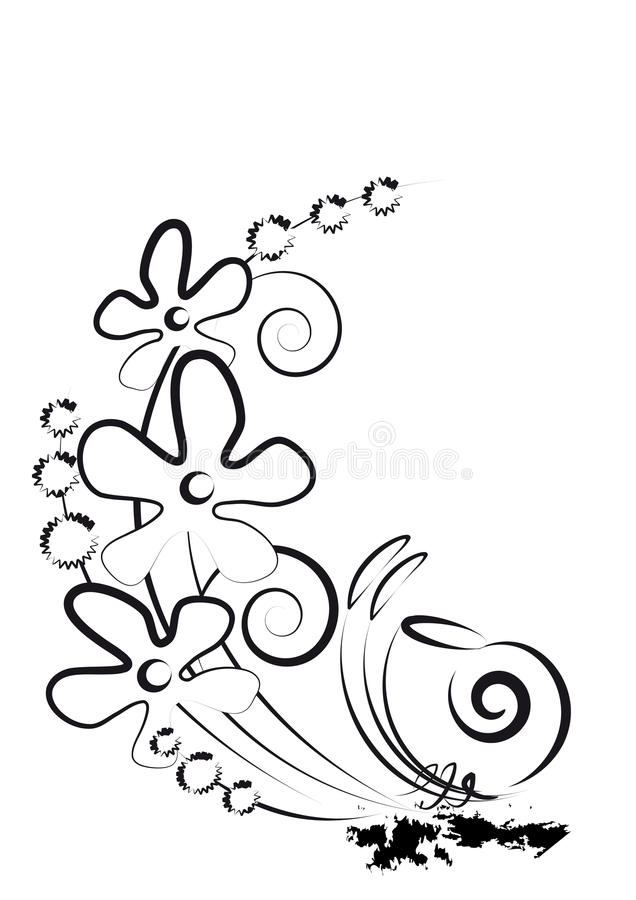 Download Kwitnie ślimaczka ilustracja wektor. Obraz złożonej z arte - 25038134