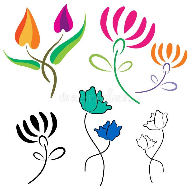 Kwitnie loga ilustracji