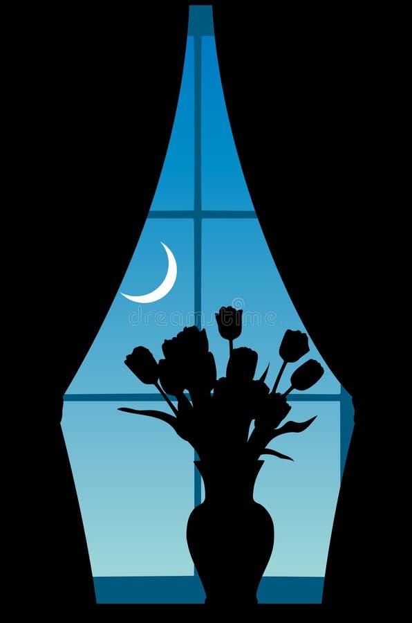 kwitnie okno ilustracji