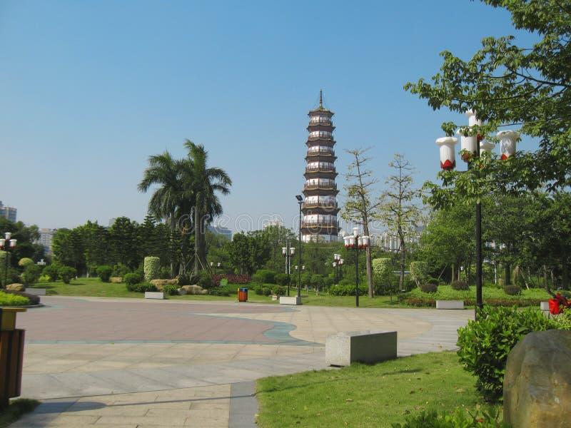 Kwitnie pagodę świątynia Sześć Banyan drzew zdjęcia stock
