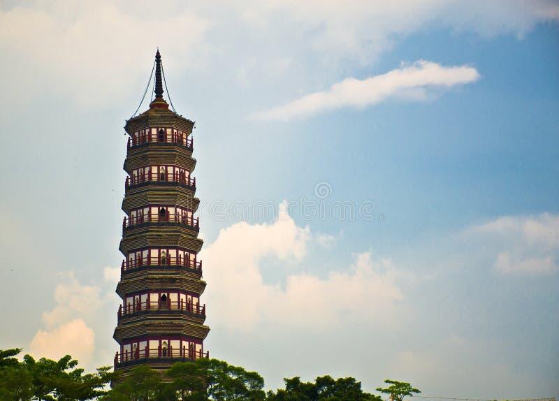 Kwitnie pagodę świątynia Sześć Banyan drzew zdjęcie stock