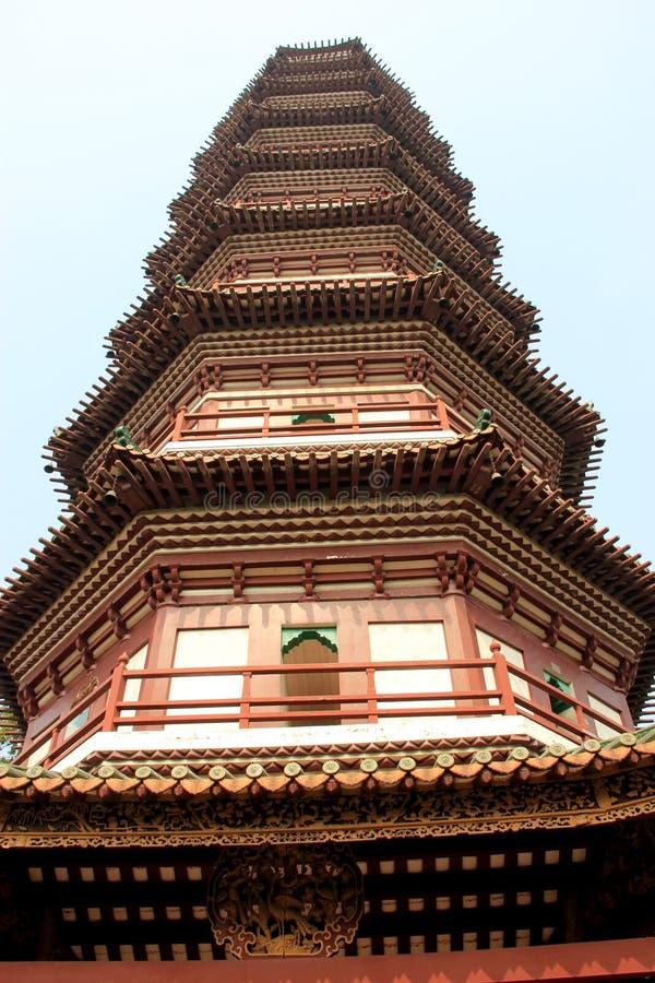 Kwitnie pagodę główna struktura świątynia Sześć Banya fotografia stock