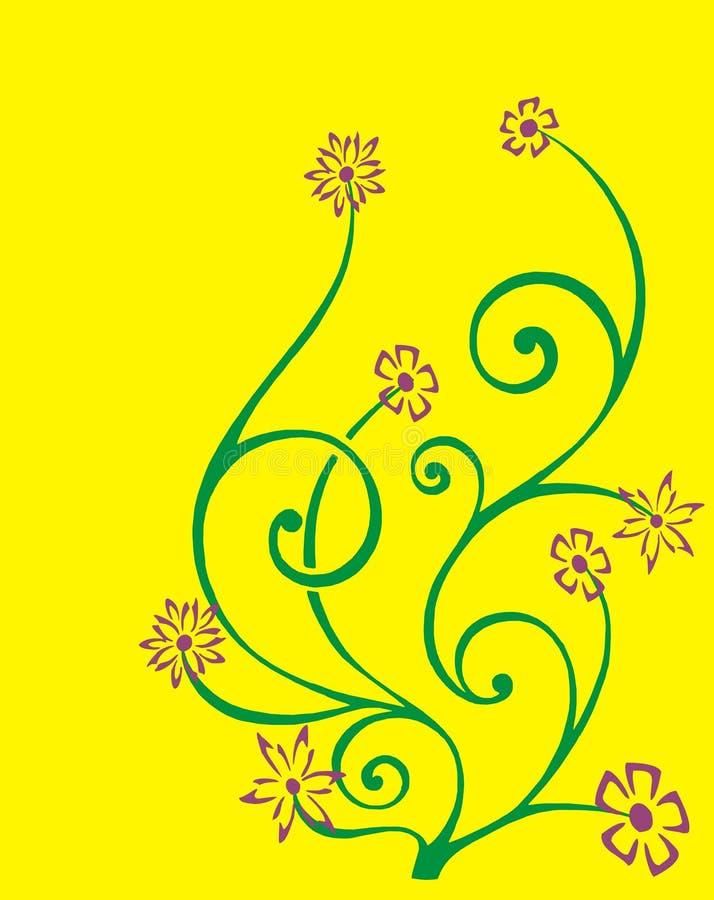 kwitnie plemiennego ilustracja wektor