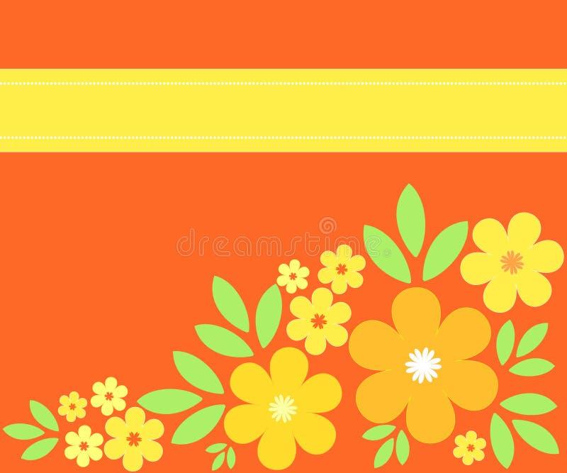 kwitnie pomarańcze ilustracja wektor