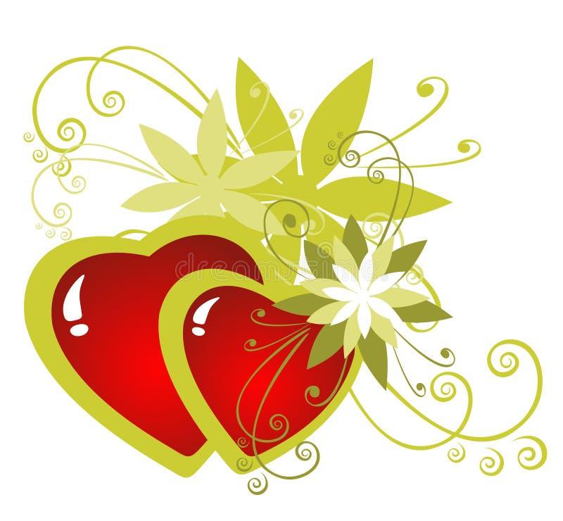 Download Kwitnie serca ilustracja wektor. Ilustracja złożonej z valentines - 13328498