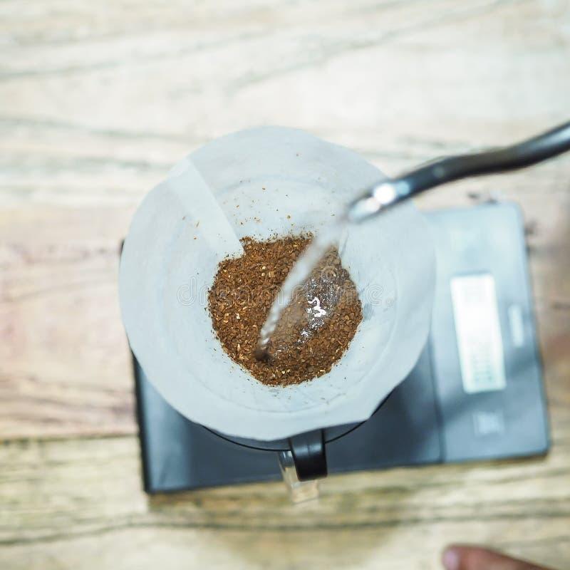 Kwitnie twój kawę najpierw zdjęcie royalty free