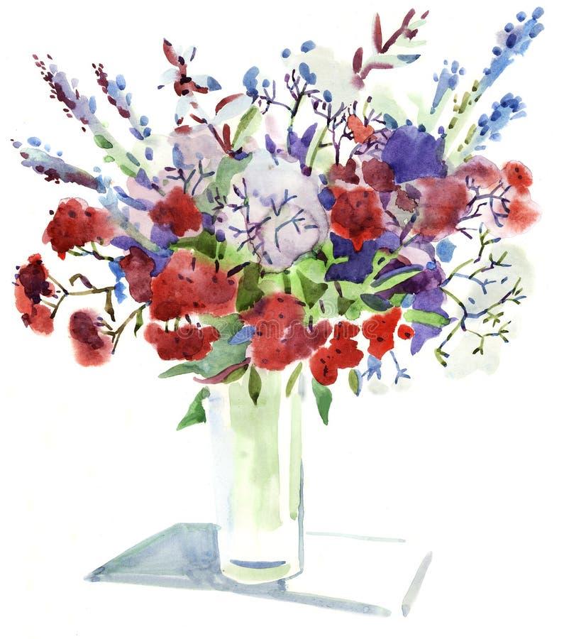 kwitnie watercolour royalty ilustracja