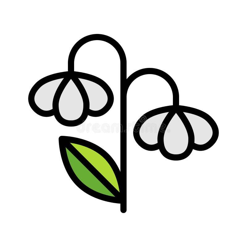 Kwitnie wektor, wiosna sezonu ikony wypełniający editable uderzenie ilustracja wektor