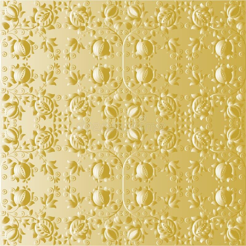 kwitnie złocistą tapetę ilustracja wektor