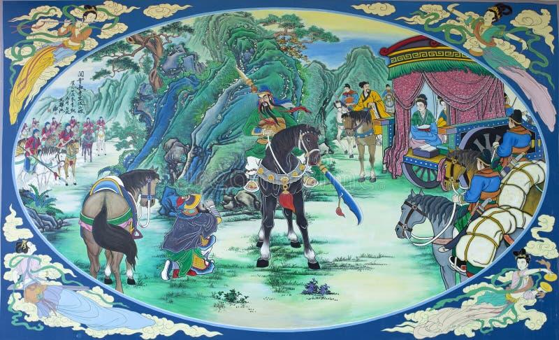 Kwnao, drei Königreiche, die Farbenabbildung malen stockfotografie