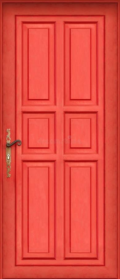 kwota magiczna czerwone drzwi zdjęcie royalty free