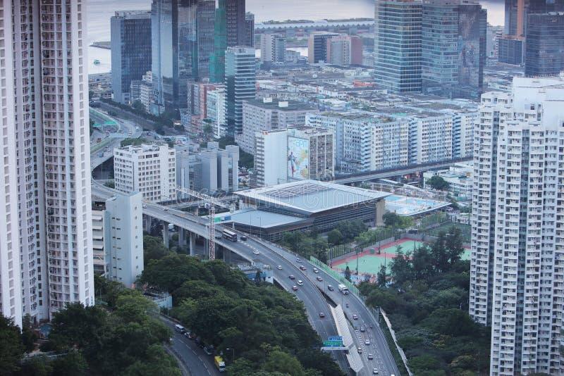 kwun钳子城市scape在2017年 库存图片