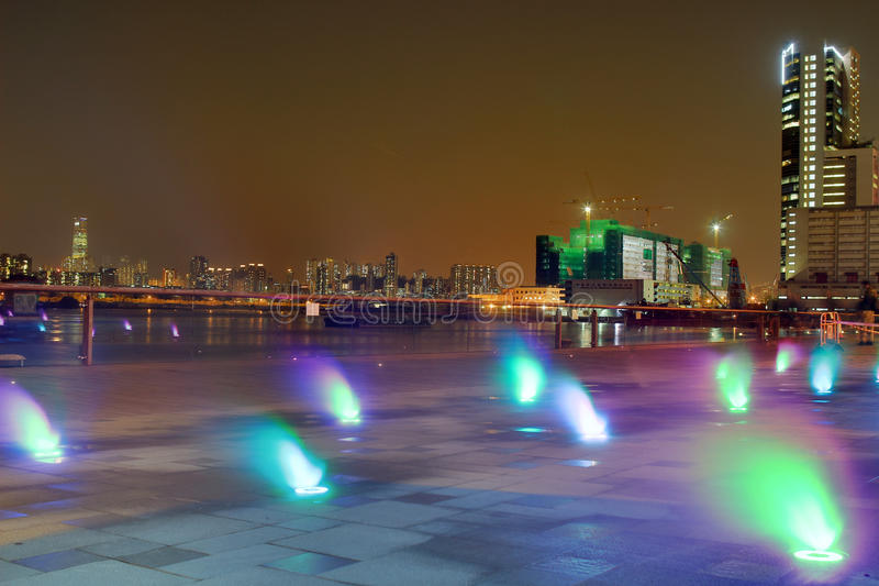 Kwun钳子散步照明设备  免版税库存照片