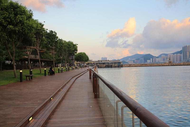 Kwun钳子散步,香港 库存照片