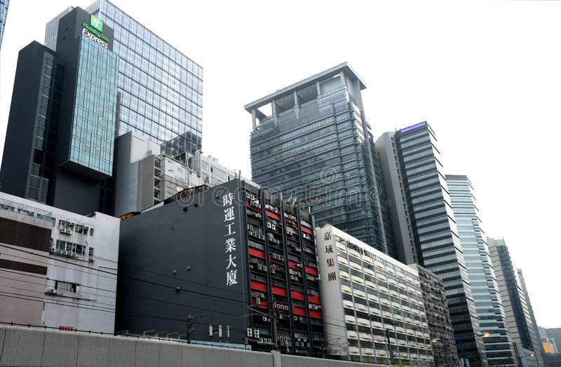 Kwun Tong w Hong Kong obraz royalty free