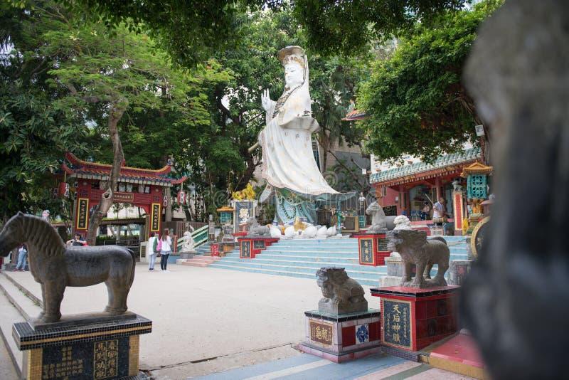 Kwun Yam Shrine al tempio di Tin Hau fotografia stock libera da diritti