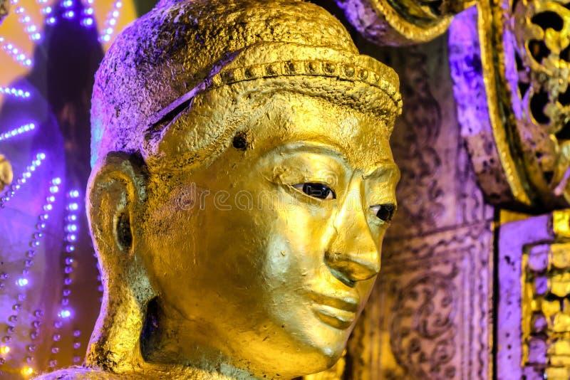 Kyaik Polor or Kyaik Polar Buddha, close up to face, myanmar royalty free stock photo