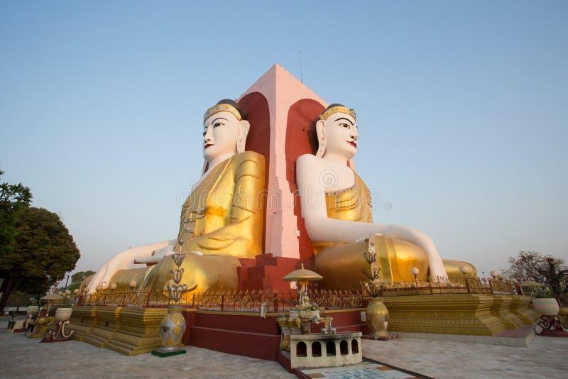 Kyaik Pun Buddha Images royalty free stock photos