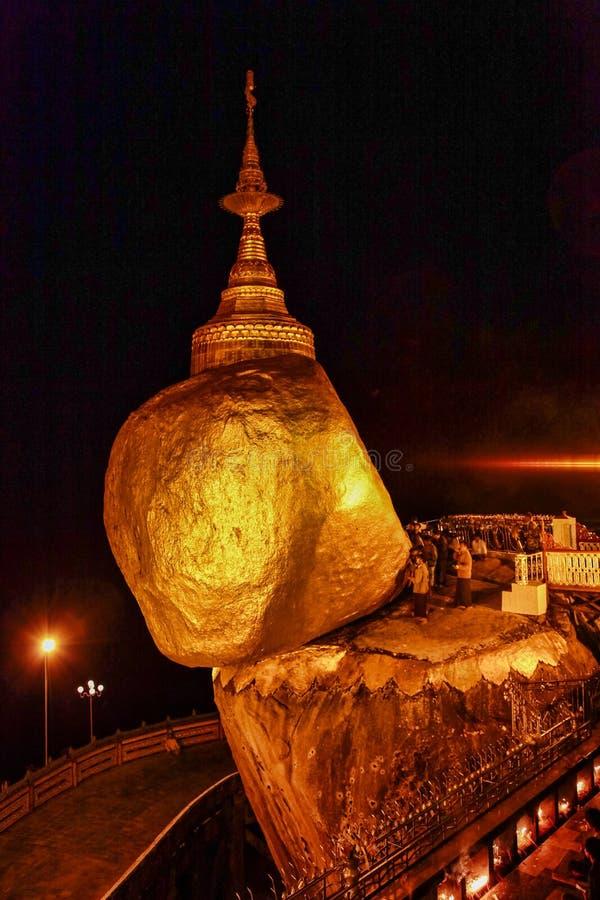 Kyaiktiyo Pagoda also known as Golden Rock in Burma, Myanmar stock photos