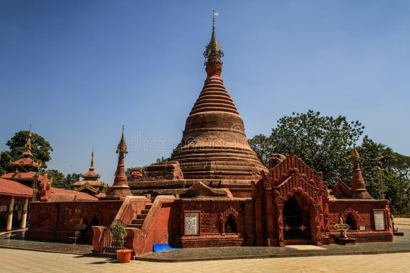 Kyaly Khat Wai Monastery, bago, bagoregion, Myanmar royaltyfri bild