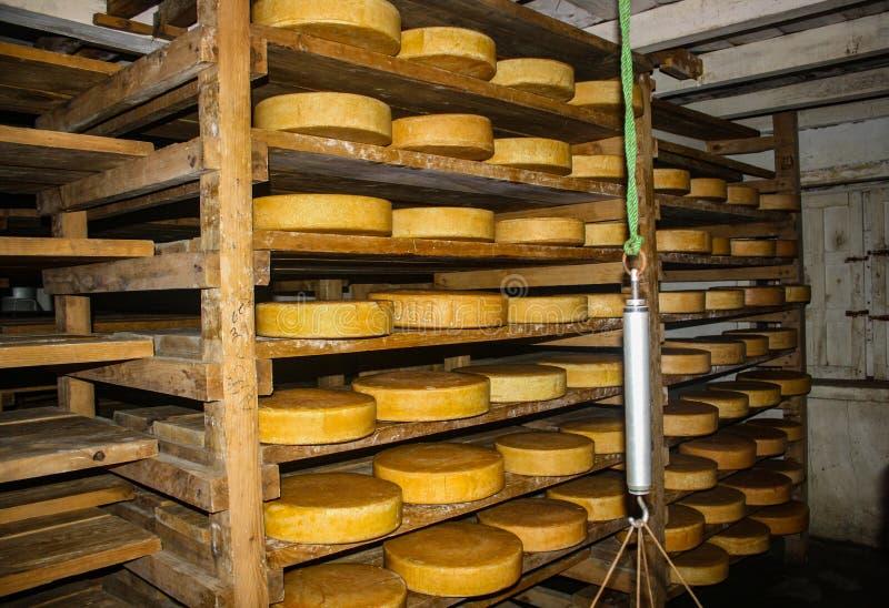Kyanjin牦牛乳酪厂和仓库 免版税库存图片