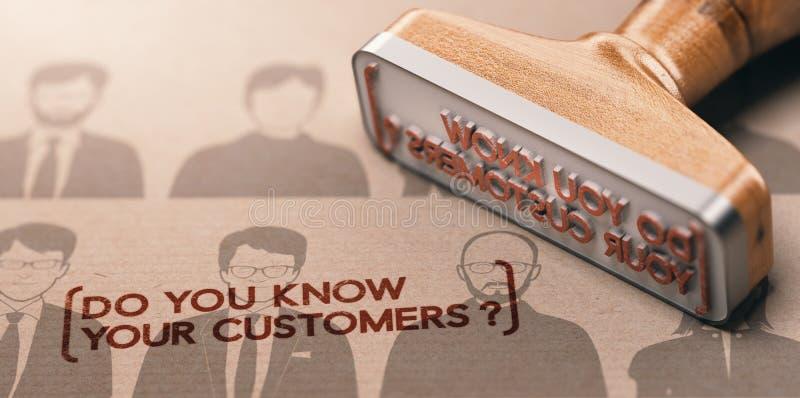 KYC, εσείς ξέρει τους πελάτες σας απεικόνιση αποθεμάτων