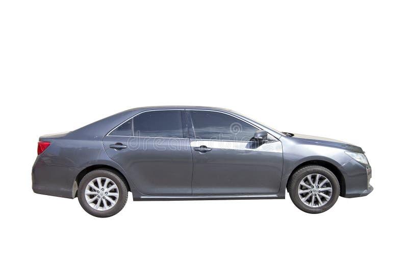KYIV,乌克兰- 2018年5月13日:灰色颜色丰田汽车的模型  背景查出的白色 免版税库存图片