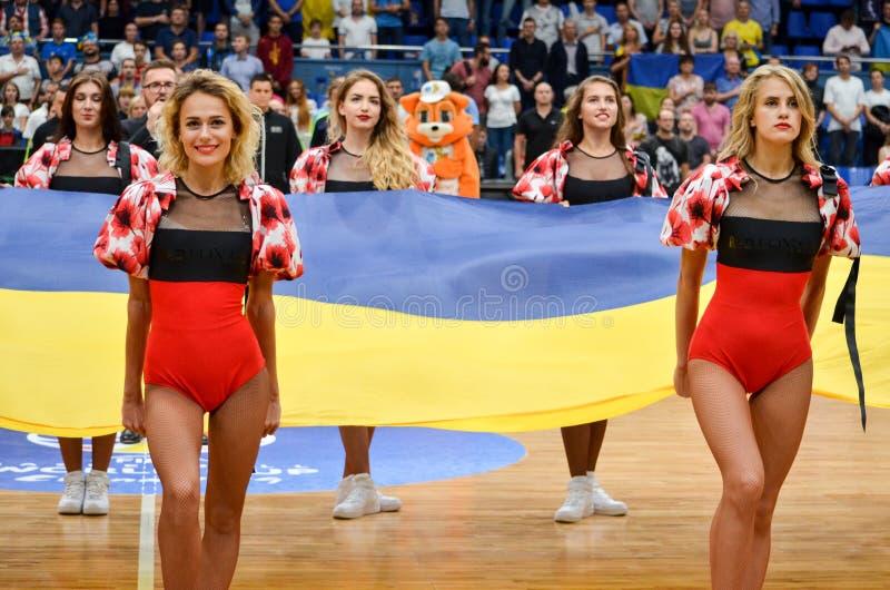 KYIV,乌克兰- 2018年9月14日:镍耐热铜奥林匹克舞蹈队 库存照片