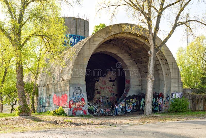 Kyiv, UA, 29-04-2018 Kesson Stalinskiy隧道 免版税库存照片