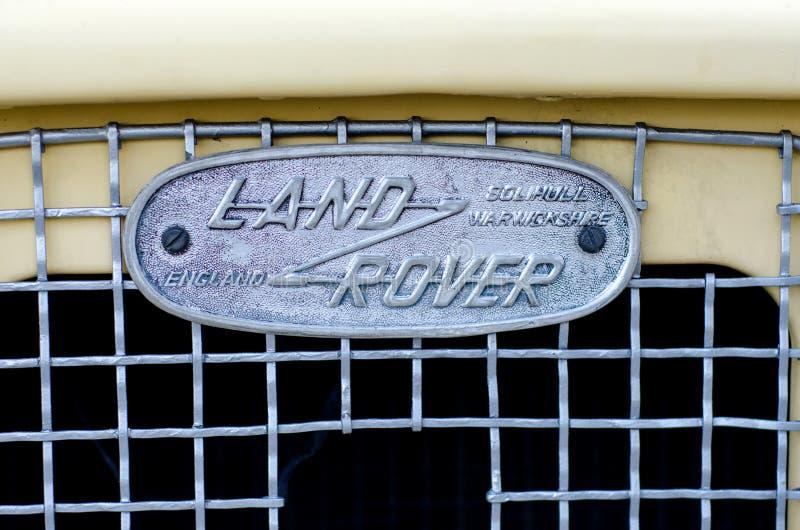Kyiv, Ουκρανία - 30 Σεπτεμβρίου 2018: Παλαιό λογότυπο του Land Rover στοκ εικόνες