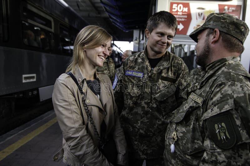 Kyiv, Ουκρανία - 14 Οκτωβρίου 2015: Ουκρανικός ορθόδοξος εφημέριος των ουκρανικών Ένοπλων Δυνάμεων στοκ εικόνα