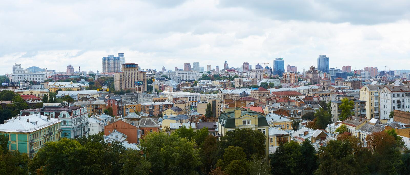 Kyiv, Ουκρανία - 7 Σεπτεμβρίου 2013: Αρχιτεκτονική του κέντρου πόλεων του Κίεβου στοκ φωτογραφία